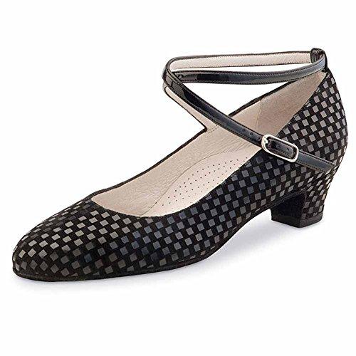 Werner Kern–Zapatos de baile para mujer Alice 3,4quadratino Negro