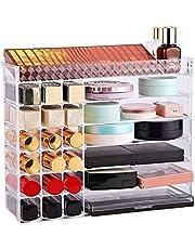 Multifunctional Makeup Organizer Holder Countertop Vanity Storage Stand, Desktop Cosmetic Holder for Lipstick Eyeshadow Palette Perfume and More