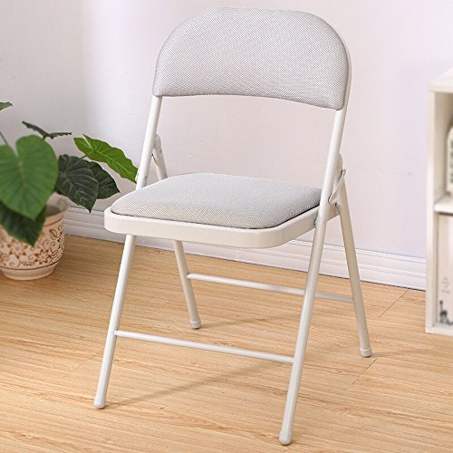 Gray folding chair / stool / home computer chair / office chair / folding backrest chair /Study Folding Chair /Office folding chair /Reception room folding chair /Conference Chair / by Folding Chair