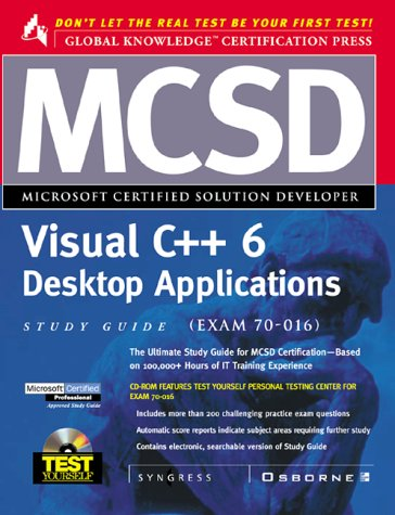 MCSD Visual C++ Desktop Applications Study Guide by Computing McGraw-Hill