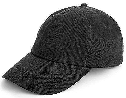 TARTINY Unisex Classic Plain 100% Cotton Baseball Cap, 6-Panel Blank Washed Low Profile Adjustable Baseball Hat