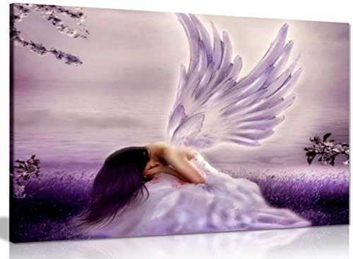 Angel Fantasy Art - Angel Fantasy Weeping Canvas Wall Art Picture Print (30x20in)