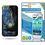 HTC Desire 510 Case, CoverOn Ultra Slim Matte Hard Case for HTC Desire 510 (2014) + Screen Protector - Starry Night