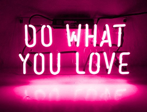 Neon Light Wall Sign Room Decor Personalized Gift''Do What You Love'' for Girls Women Men Home Bedroom Beer Bar Garage