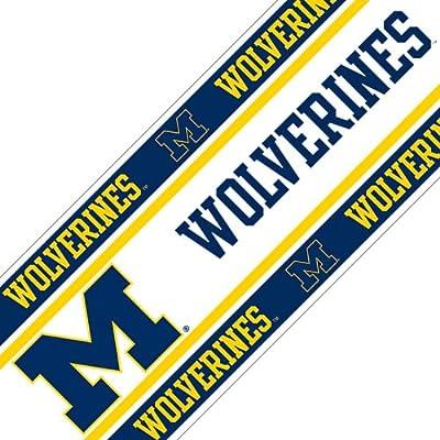 Sports Coverage NCAA Michigan Wolverines Wall Border