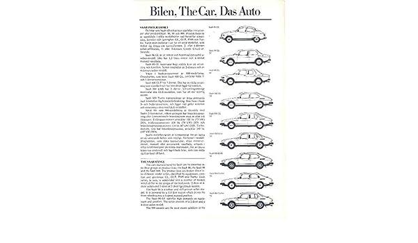 Amazon.com: 1980 Saab 900 GL GLE EMS Turbo Sales Brochure: Entertainment Collectibles