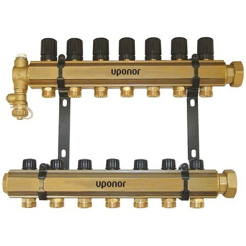 Uponor Wirsbo A2610700 TruFLOW Classic Manifold Assembly with B & I Valves - Radiant Heating & Cooling, 7-Loop
