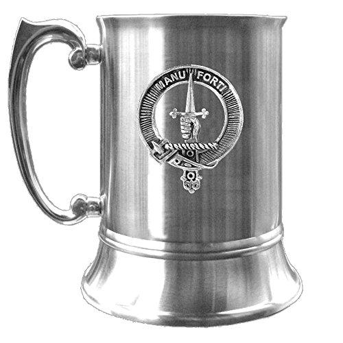 (MacKay Scottish Clan Crest Pewter Badge Tankard)