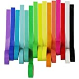UOOOM 15 Rolls Decorative Washi Tape Masking Tape Adhesive Scrapbooking DIY Craft Gift (15x Rainbow Design)