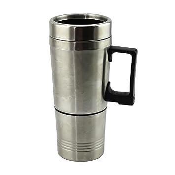 Pandiki Acero 12V 300 ml de Protable Coche Auto Copa Calefacción En Cargador de Coche de Acero del café del Calentador de Agua de té: Amazon.es: Hogar