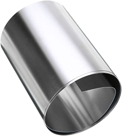 0.2mm x 100mm x 1m Silver 304 Stainless Steel Fine Sheet Plate Foil Cut Sheet