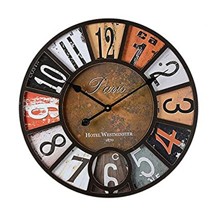 ZHB Reloj Reloj De Pared, Salón Bar Cafe Reloj De Pared Personalizada, Loft Decoración