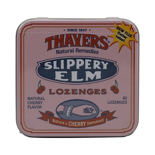 Thayer Henry Company Cherry Slippery Elm Lozenges - 42 per pack - 10 packs per case.