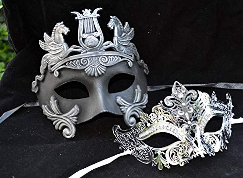 Hercules Luxury Couple Mask Mardi Gras Venetian His & Her Mask Ball Masquerade Mask