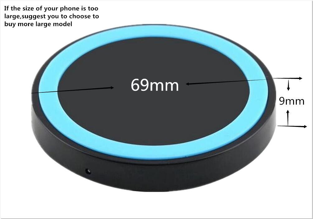 Wireless Charger,UPsztec Qi Wireless Charging Pad for Galaxy S7,Galaxy S7 edge, Galaxy S6,Note 5 ,S6 Edge+,S6 Edge, Nexus 4/5/6 and All Qi-Enabled Devices(black-blue)