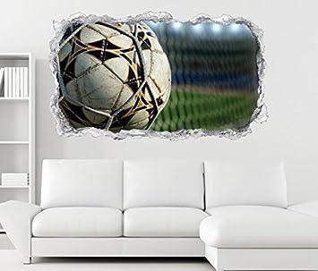 3d Wandtattoo Fussball Netz Ball Fussball Tor Goal Wand