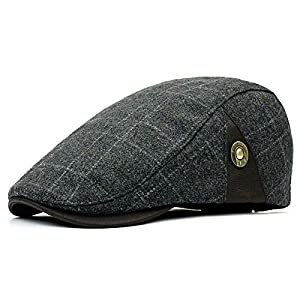 Croogo ハンチング 帽子 ベレー帽 キャスケット ワークキャップ 紳士帽子 メンズ レディース 帽子 秋冬(グレー)