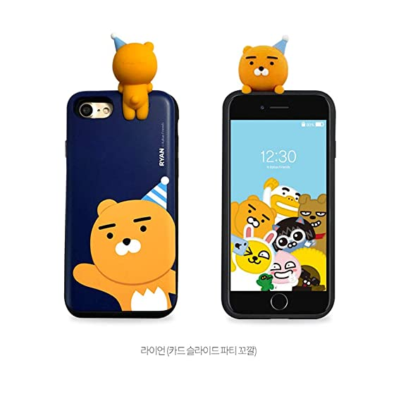 size 40 42b39 4ccdd Galaxy Note8,S8,S9,S9Plus Kakao Friends Cell Phone Case Party Figure Case  Samsung (Ryan_Navy, Galaxy S9 Plus)