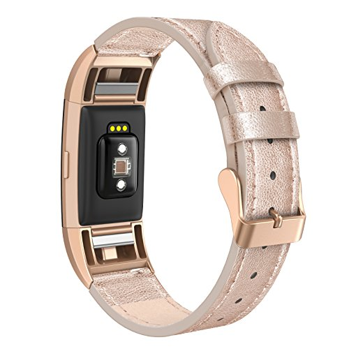 SWEES Leather Bands Compatible Charge 2 Small (5.6