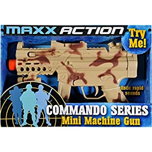 Sunny Days Entertainment Toy Mini Machine Gun Maxx Action Commando Series, Camo