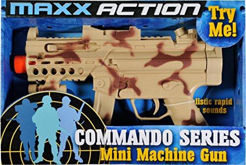 Sunny Days Entertainment Toy Mini Machine Gun Maxx Action Commando Series, Camo