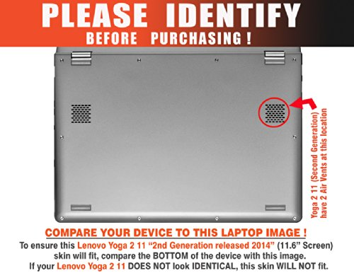 """Decalrus - Lenovo Yoga 2 """"2"""" 11 with 11.6"""" screen Full Body BLUE Texture Brushed Aluminum skin skins decal for case cover wrap BAYoga2TWO11Blue"""