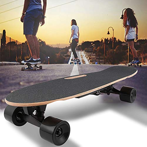shaofu Electric Skateboard with Remote Control for Adults, 7 Layers Maple Longboard, 12 MPH Top Speed, 10 Miles Range (US Stock)