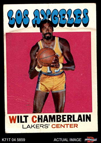 1971 Topps # 70 Wilt Chamberlain Los Angeles Lakers (Basketball Card) Dean's Cards 1.5 - FAIR Lakers