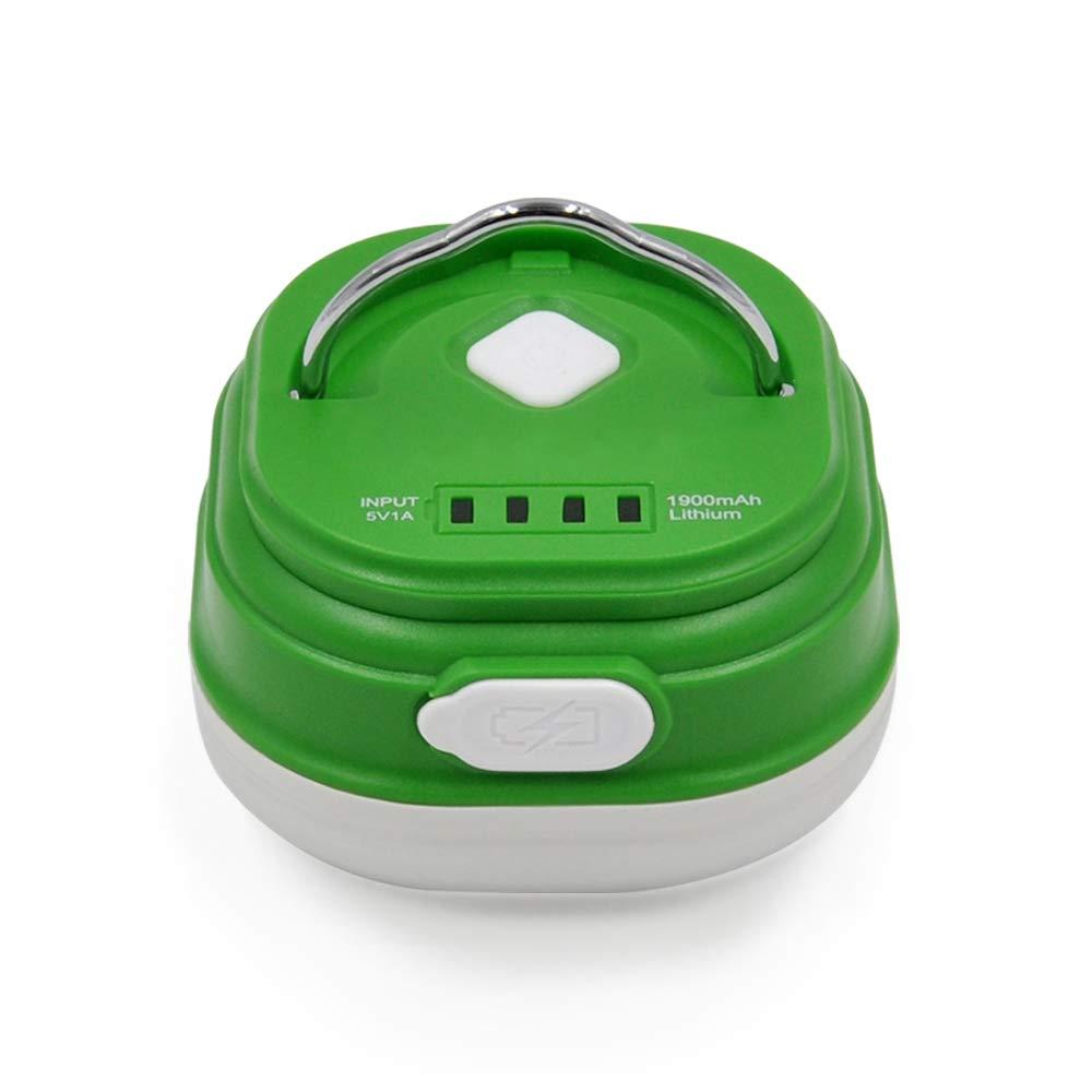 ENUOTEK LED Campinglampe Zeltlampe Arbeitsleuchte Dimmbar USB Aufladbar Tragbar mit 2.5W LED, 1900mAh Lithium ionen Akku und Starke Magneten EN-L002-01