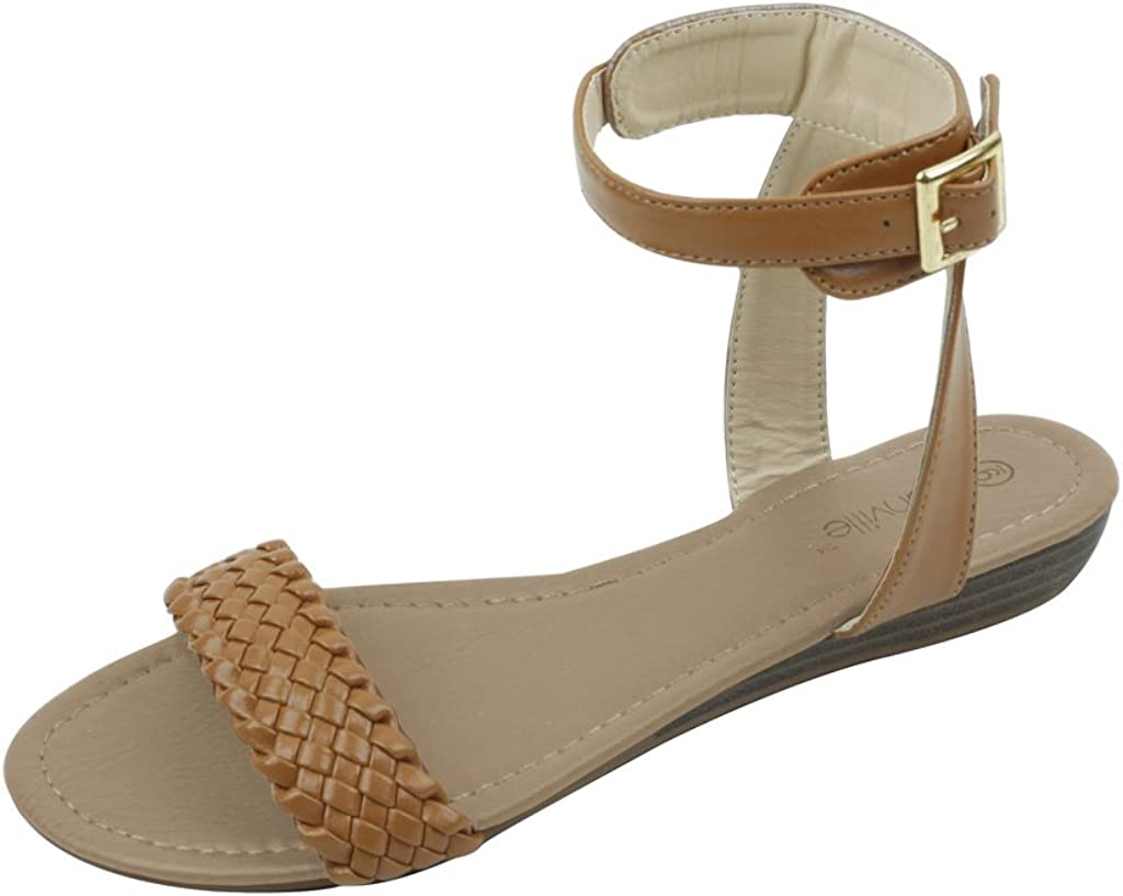 sunville New Womens Low Wedge Fashion Sandals