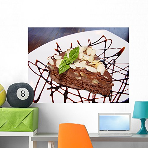(Wallmonkeys Chocolate Pie with Nuts Wall Decal Peel and Stick Graphic WM233854 (36 in W x 27 in)