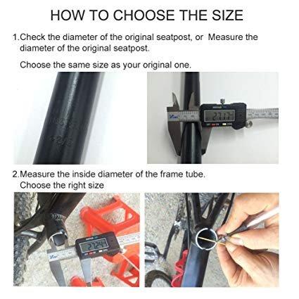 Daiky Bicycle Seat Post Alumium Adjustable Seatpost for MTB Road Bike BMX /φ 25.4//27.2//28.6//30.4//30.9//31.6350mm