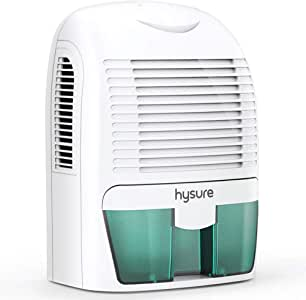 Hysure 1500ML Dehumidifier, Compact and Portable Electric Dehumidifiers Ultra Quiet Home Dehumidifier for Damp Air, Mold, Moisture in Bathroom, Bedroom, Kitchen, Wardrobe, RV and Office-Blue Green …