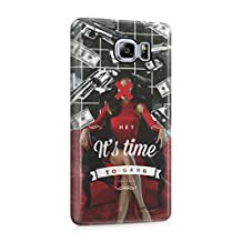 Hey It's Time Sexy Bossy Girl Guns Cash Pattern Plastic Phone Snap On Back Cover Shell For Samsung Galaxy Note 5