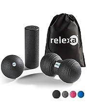 Relexa Mini Fascia-set, 3-delige trainingsset voor het hele lichaam, met fasciarol, Twinball & fasciaral, oppervlakkige en gerichte zelfmassage, incl. fascia-e-booklet, in verschillende Kleuren: