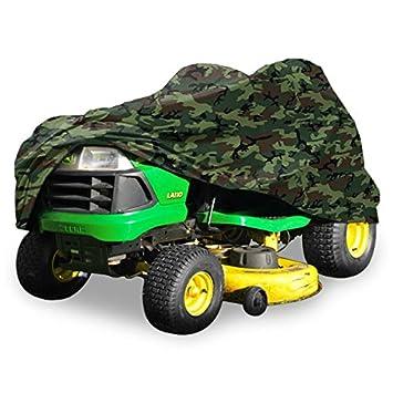 """Deluxe de equitación cortacésped tractor Funda Compatible con cubiertas hasta 54 """" – camuflaje –"""