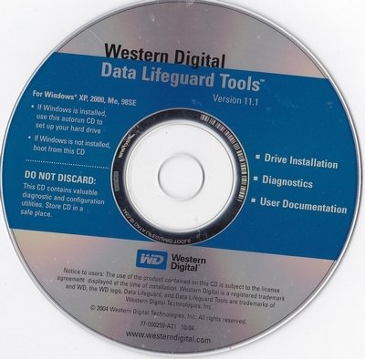 Western Digital Data Lifeguard Tools Version 11.1