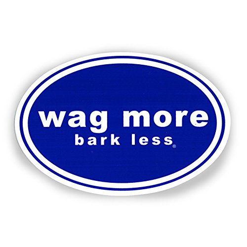 Wag More Bark Less Auto Car Refrigerator MAGNET - Dark blue background with White Font ()