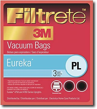 Filtrete Type PL Eureka Vacuum Cleaner Replacement Bags (3 Bags)