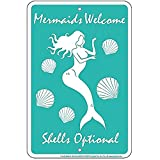 Signs 4 Fun SPSSU16 Mermaids Welcome Small