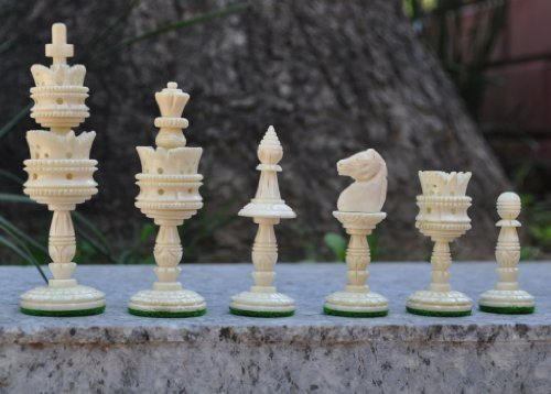 Buffalo Bone Hand carved Lotus Chess Pieces set