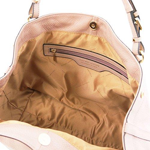 Tuscany Leather Ambrosia - Borsa in pelle morbida con tracolla - TL141516 (Nude)