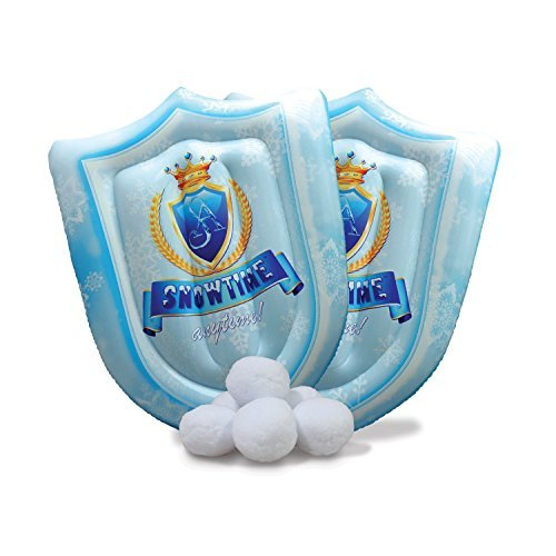 Indoor Snowball Fight Set - Snowtime Anytime 6pk plus 2 Inflatable Snowball Shields]()