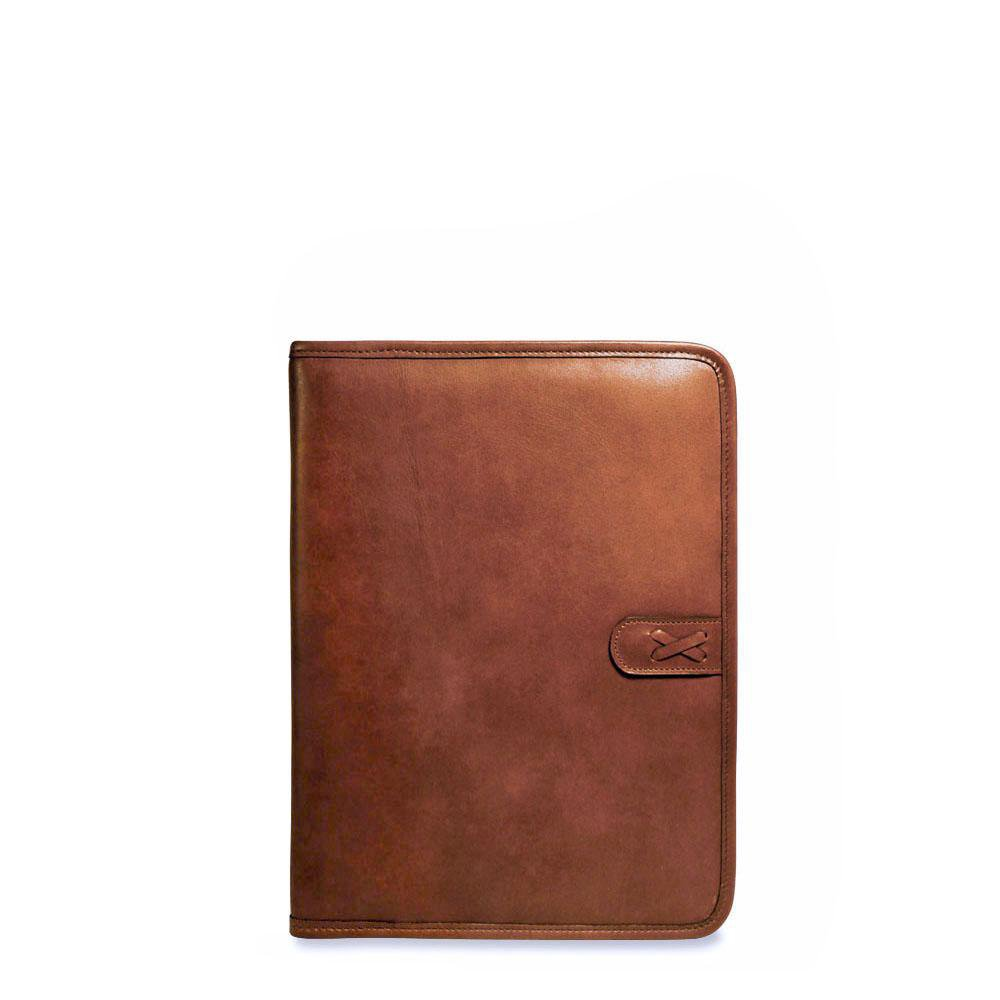 Jack Georges Belmont Letther Size Leather Writting Pad Cover in Cognac