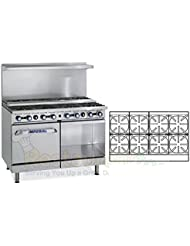 Imperial Commercial Restaurant Range 48 Step Up 8 Burner 1 Oven Cabinet Nat Gas Ir 8 Su Xb