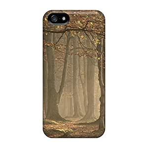 Iphone 5/5s Fog In Forest Print High Quality Tpu Gel Frame Case Cover