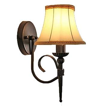 E14 Lámparas de Pared Vintage y Apliques Aplique de Tela 220V 5 W Zhang Ying ZY