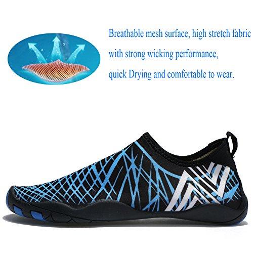 Swim Aqua Quick Con Nudi Acqua Laiwodun Uomo Dry Color Di Donna Piedi 2 Calzature Diving 14 A Fili Scarpe Drenaggio Subacquee 6fW76Ic