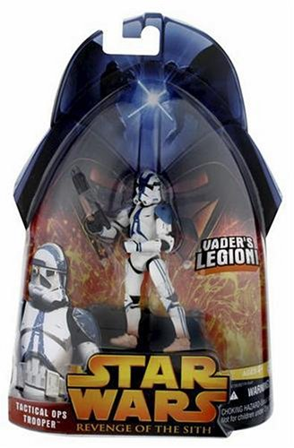 Star Wars E3 Revenge of the Sith Action Figure #65 Tactical Ops Trooper (401st) ()