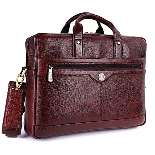 Hammonds Flycatcher Genuine Leather Office Messenger Laptop Bag